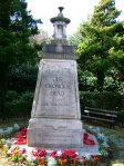 Alexandra Park war memorial in Crosby