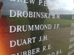 John Drummond on the Battle of Britain memorial, Capel le Ferne