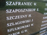 P/O W Szulkowski commemorated on the Battle of Britain Memorial, Kent